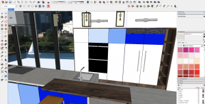 VR design tip 1: Yulio Sketchup example render with camera too high