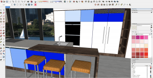 Yulio Sketchup example render with camera at correct height