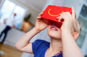 Turning boxes into headsets for McDonald's marketing for VR