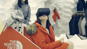 The North Faces' VR Retail experience is about trying your gear before you buy