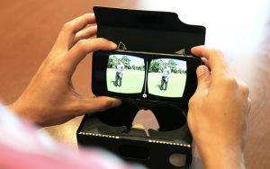 TaylorMade is selling with VR in their 360 VR film showing how golf pros experience a demo of new irons.