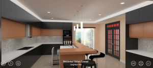 Selling with VR is set to revolutionize new construction as demonstrated in this yulio VR kitchen concept.