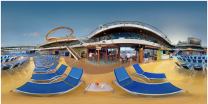 Carnival Cruise ships VR travel experience shows off the ship and its ports to travelers.