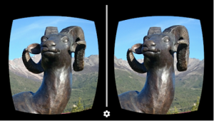 Stereoscopic views allow for a more realistic illusion of depth within a VR experience.