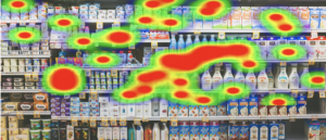 VR Heatmaps use eye tracking to display saturated paths of focus from the user which show areas of interest that are common within all virtual visits.