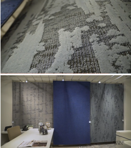Unstructured patterns and organic designs took the forefront of design at NeoCon