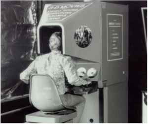 Virtual reality in the 1950s looked like an arcade game with built in features such as smell and a vibrating chair.