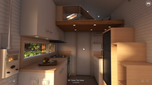 This version of the rendering is complete with lighting, finishes, and decor. VR helps you visualize a completed space and see it as if it were real.