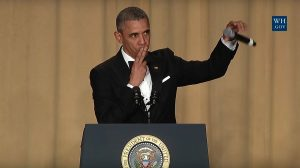 Barack Obama shows his confidence while concluding his time as President of the United States.