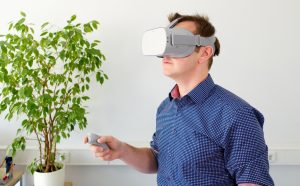 Man in Oculus Go