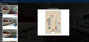 Screenshot of floor plan navigation feature