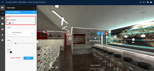 Screenshot of audio hotspots