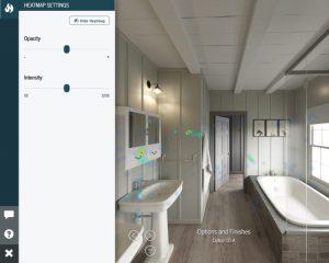 VR project heatmap settings