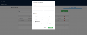 Add team member, Yulio platform