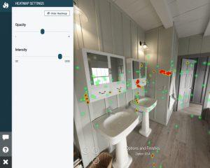 VR project heatmaps, more opacity