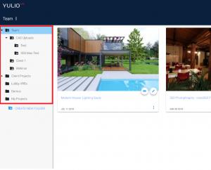 Yulio VR projects folder tab