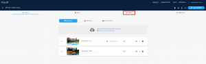 Yulio dashboard, share button